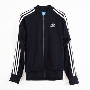ADIDAS 3-Straps Black Zip Jacket